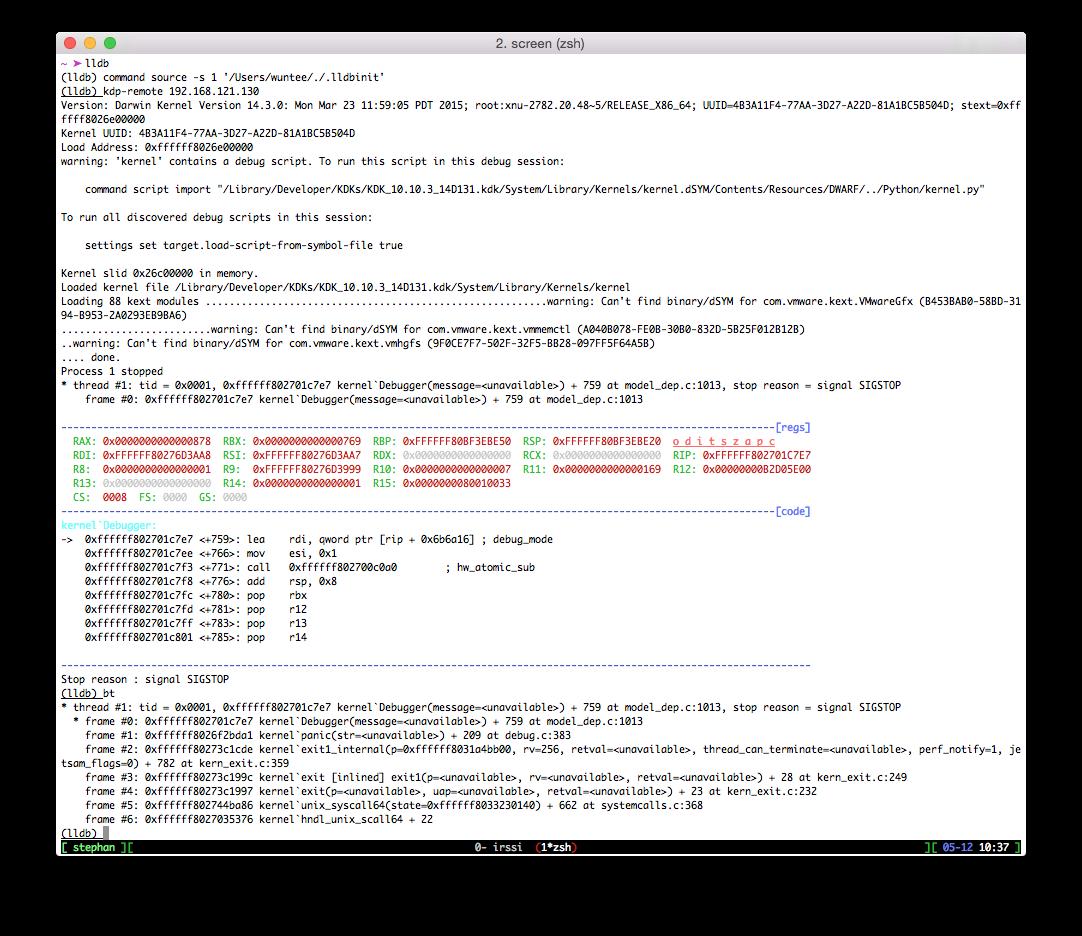 Kernel debugging